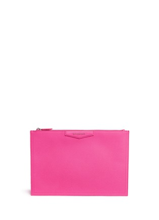 Main View - Click To Enlarge - Givenchy - 'Antigona' large leather zip pouch