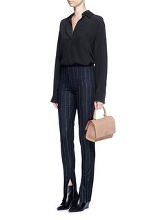 Givenchy'Shark' mini leather shoulder bag