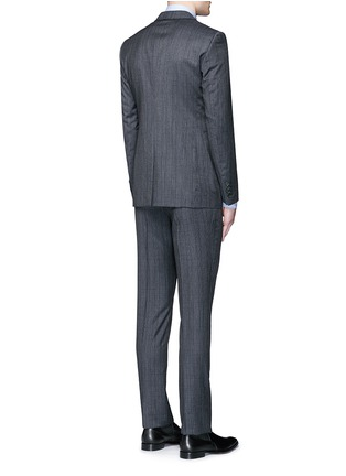 Back View - Click To Enlarge - Lanvin - 'Attitude' speckled check wool suit