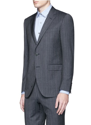 Front View - Click To Enlarge - Lanvin - 'Attitude' speckled check wool suit