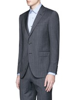 'Attitude' speckled check wool suit