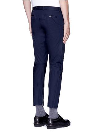 Back View - Click To Enlarge - Lanvin - Slim fit cotton gabardine biker pants