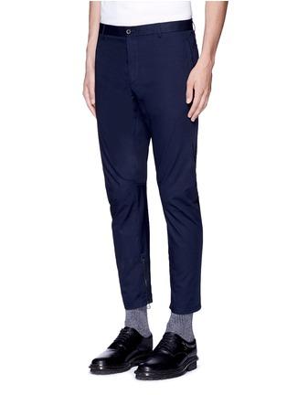 Lanvin-Slim fit cotton gabardine biker pants