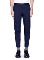 Slim fit cotton gabardine biker pants