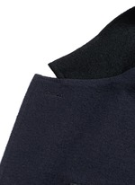 Deconstructed colourblock jersey soft blazer