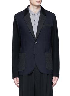 LanvinDeconstructed colourblock jersey soft blazer