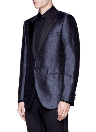 Front View - Click To Enlarge - Lanvin - 'Evolution' silk jacquard tuxedo blazer