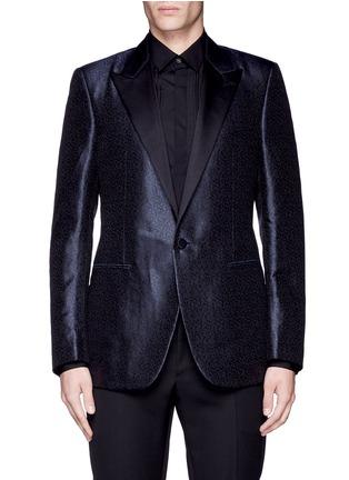 Main View - Click To Enlarge - Lanvin - 'Evolution' silk jacquard tuxedo blazer