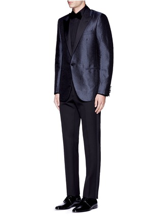 Figure View - Click To Enlarge - Lanvin - 'Evolution' silk jacquard tuxedo blazer