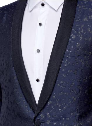 Detail View - Click To Enlarge - Lanvin - Slim fit metallic jacquard tuxedo blazer