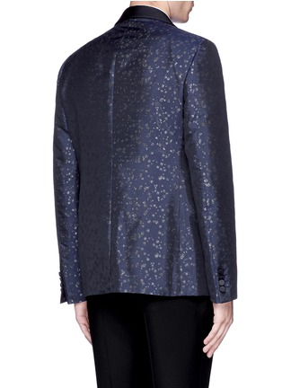Back View - Click To Enlarge - Lanvin - Slim fit metallic jacquard tuxedo blazer