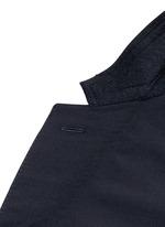 Slim fit collar trim wool blazer