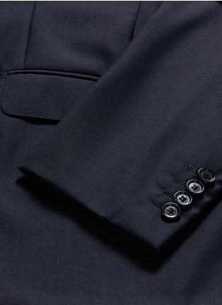 - Lanvin - Slim fit collar trim wool blazer