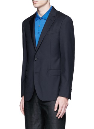 Front View - Click To Enlarge - Lanvin - Slim fit collar trim wool blazer