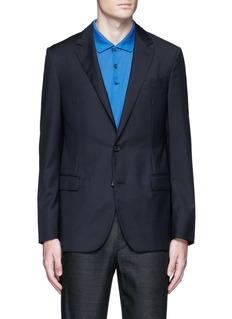 Lanvin Slim fit collar trim wool blazer