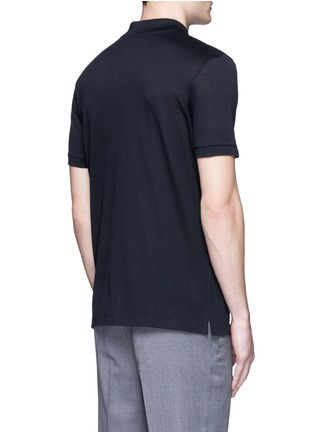 Back View - Click To Enlarge - Lanvin - Slim fit ribbon shoulder polo shirt