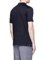 Slim fit ribbon shoulder polo shirt