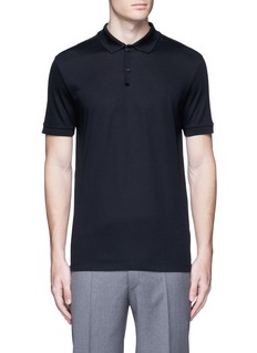 LanvinSlim fit ribbon shoulder polo shirt