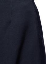 Cotton blend wide leg culottes