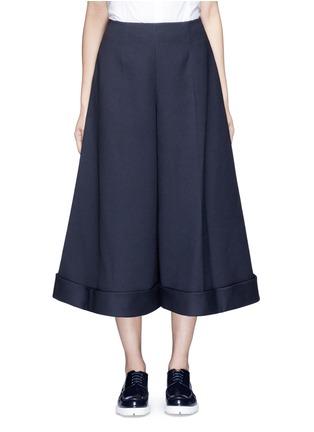 Main View - Click To Enlarge - DELPOZO - Cotton blend wide leg culottes