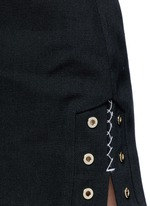 'Reinking' grommet cotton drill hot pants