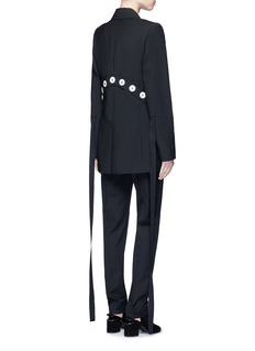 ELLERY 'Gene' grosgrain pull button virgin wool blend jacket