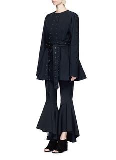 Ellery'Femme' eyelet selvedge collarless jacket
