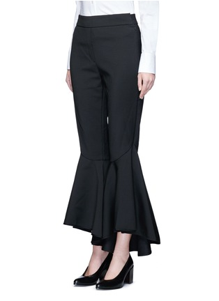 Front View - Click To Enlarge - Ellery - 'Sinous' cropped flared pants