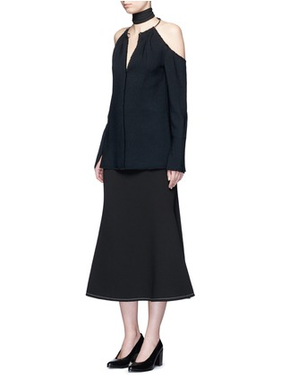 Figure View - Click To Enlarge - Ellery - 'Beedee' cady flute skirt