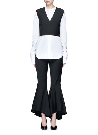 Main View - Click To Enlarge - Ellery - 'Frenetic' crisscross back cropped top