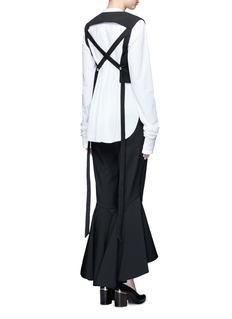 Ellery'Frenetic' crisscross back cropped top