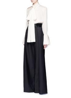 Ellery'Little Me' ruffle cuff silk georgette blouse
