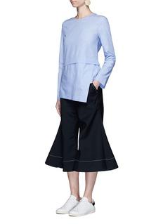 Ellery'Roxie' virgin wool blend flared culottes