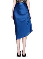 'Charlemagne' ruched silk skirt