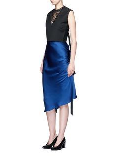 Ellery'Charlemagne' ruched silk skirt