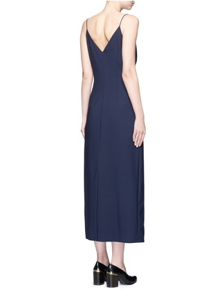 Back View - Click To Enlarge - Ellery - 'Barton' zip front camisole dress