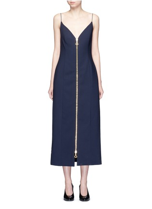 Main View - Click To Enlarge - Ellery - 'Barton' zip front camisole dress