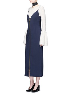 Ellery 'Barton' zip front camisole dress