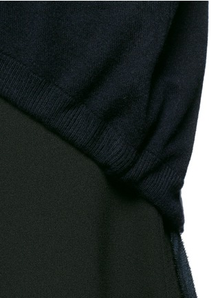 Detail View - Click To Enlarge - Ellery - 'Smitten' ribbon drawstring cashmere sweater
