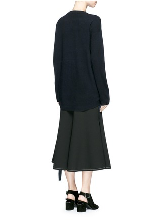 Back View - Click To Enlarge - Ellery - 'Smitten' ribbon drawstring cashmere sweater