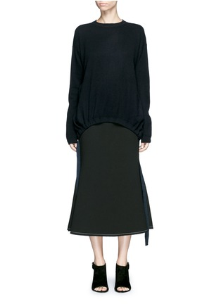 Main View - Click To Enlarge - Ellery - 'Smitten' ribbon drawstring cashmere sweater