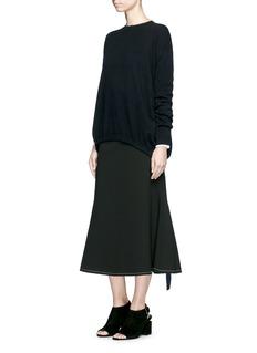 ELLERY'Smitten' ribbon drawstring cashmere sweater