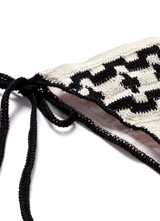Detail View - Click To Enlarge - Anna Kosturova - 'Mirage' ethnic crochet triangle bikini set