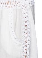 'Giza' crochet trim cotton drawstring harem pants
