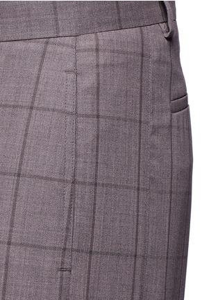 细节 - 点击放大 - PAUL SMITH - 格纹羊毛长裤