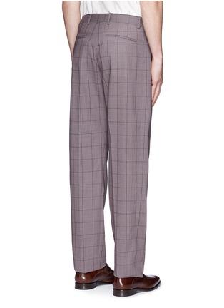 背面 - 点击放大 - PAUL SMITH - 格纹羊毛长裤