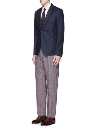 模特儿示范图 - 点击放大 - PAUL SMITH - 格纹羊毛长裤