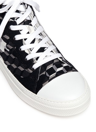 Detail View - Click To Enlarge - Pierre Hardy - 'Frisco' camocube print high top sneakers