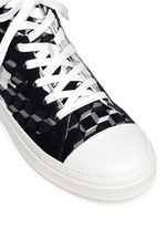 'Frisco' camocube print high top sneakers