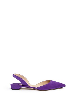 Main View - Click To Enlarge - Paul Andrew - 'Rhea 15' suede slingback flats
